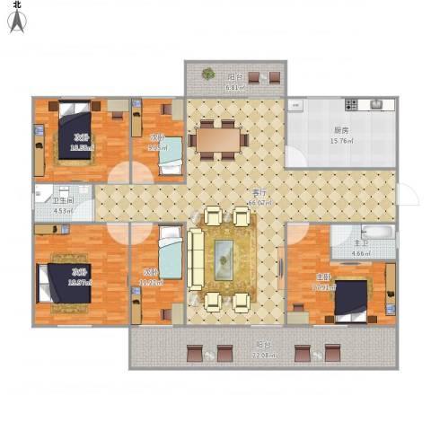 中海康城国际6690325室1厅1卫1厨259.00㎡户型图