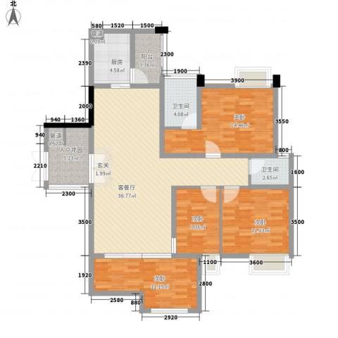 惠昌楼4室1厅2卫1厨146.00㎡户型图