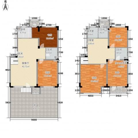 半山洋房5室2厅3卫1厨229.41㎡户型图