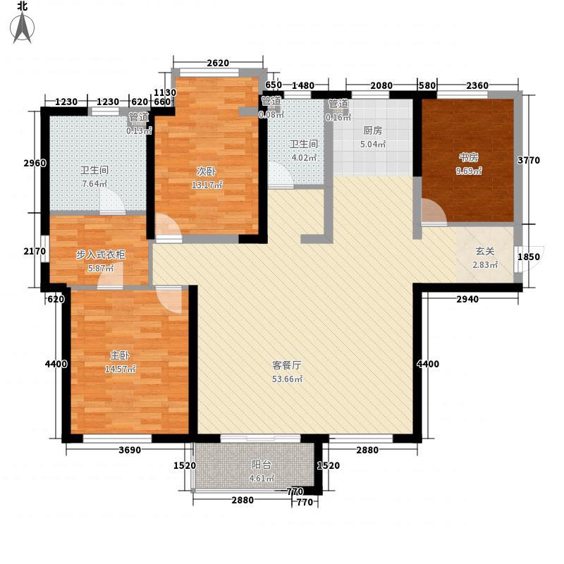 红星海世界观3室1厅2卫0厨113.57㎡户型图