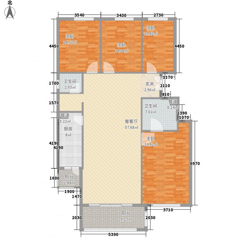 竹溪园户型4室2厅2卫1厨