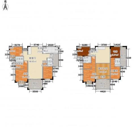 富龙翡翠欧庭6室2厅4卫1厨287.00㎡户型图