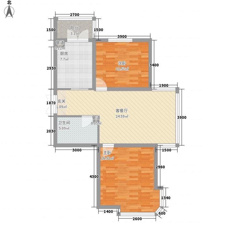 绿宝75.00㎡小区户型2室