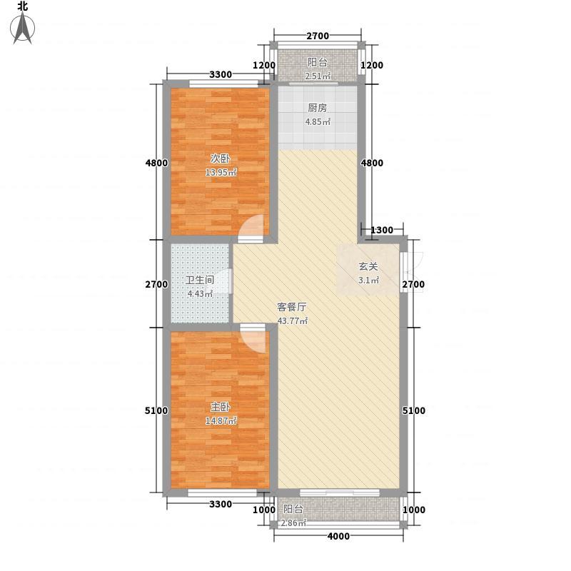 中新花园11.00㎡三期户型2室2厅1卫