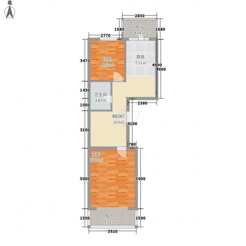 丰乐75.00㎡小区户型2室