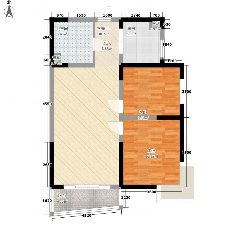 可可居丰泽园3#楼E户型2室2厅1卫