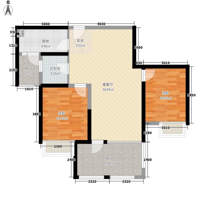 汇成商业中心3-2-1-1-4户型3室2厅1卫1厨