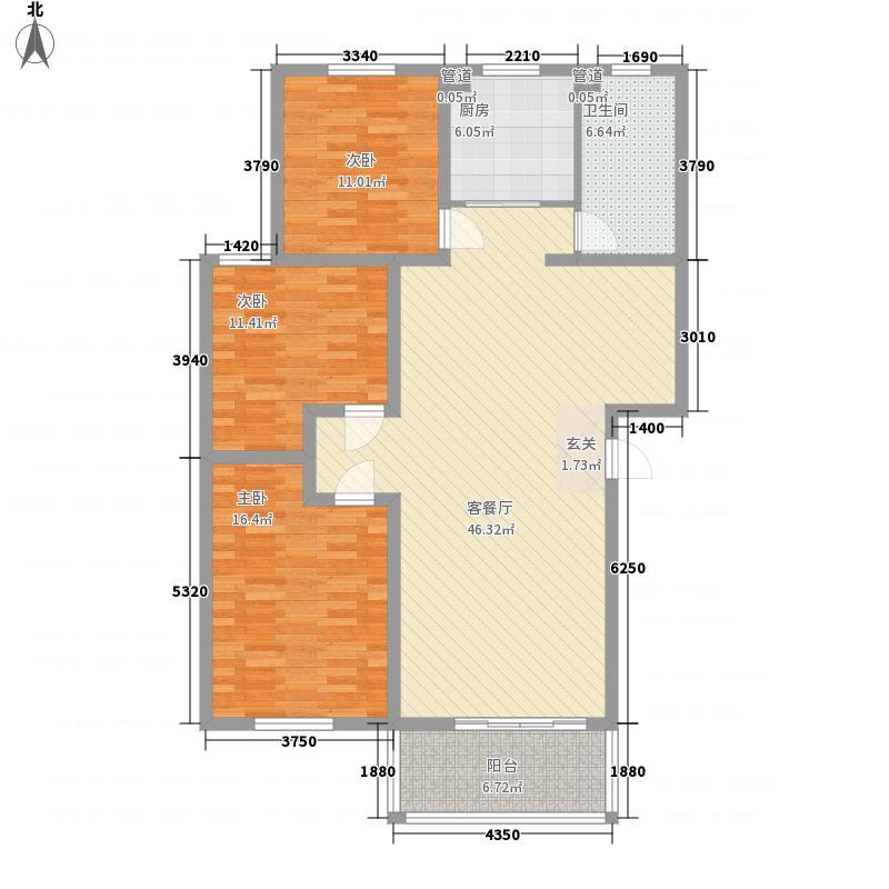 欧洲花园147.00㎡户型3室