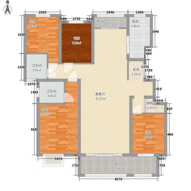 金汇・瀚玉城164.00㎡A4-2#3#楼D3标准层户型4室2厅2卫1厨