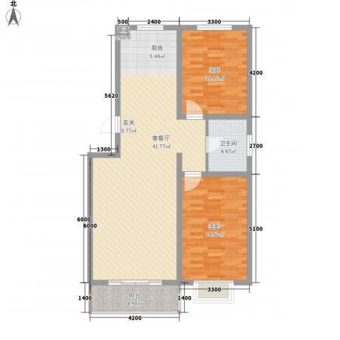 友谊馨居2室1厅1卫0厨78.27㎡户型图
