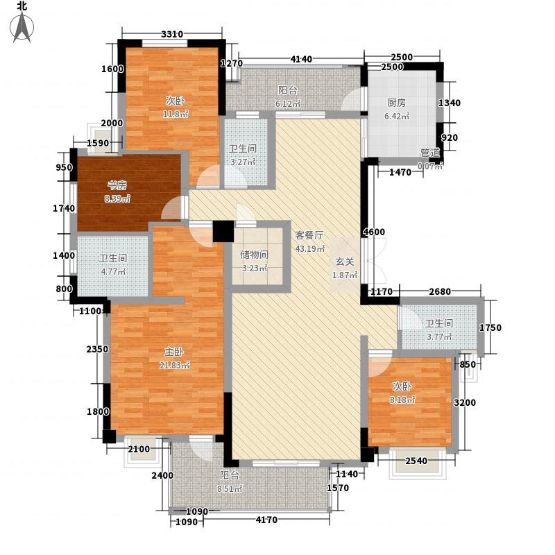 建工依山郡一期11、13、15-22号楼11层B户型