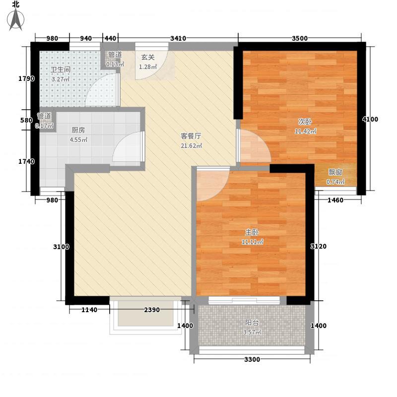 鸿利小区户型2室2厅1卫1厨