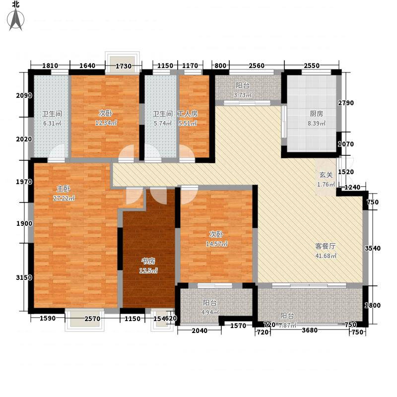 保利大名湖215.00㎡5E百变户型5室2厅2卫1厨