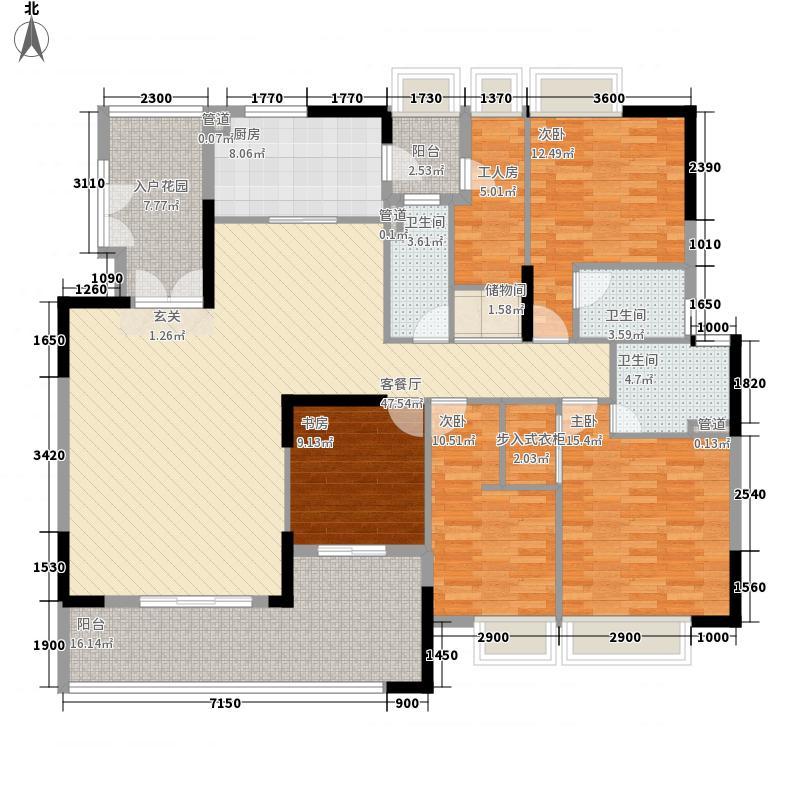 保利108公馆226.00㎡户型4室2厅2卫1厨