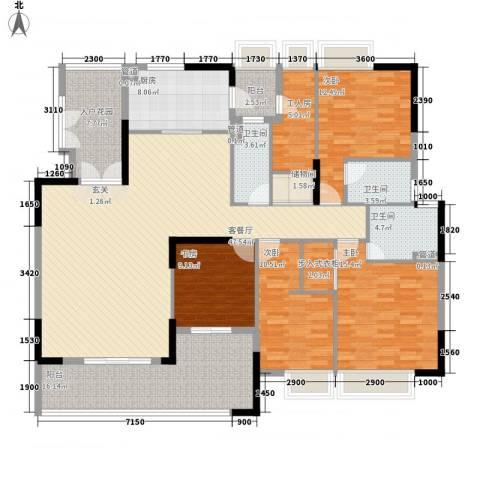 保利108公馆4室1厅3卫1厨226.00㎡户型图