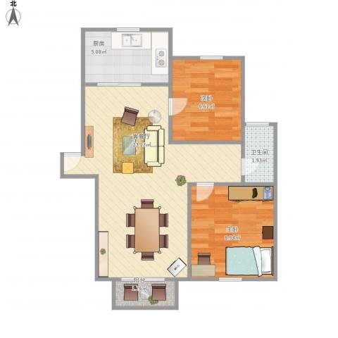 歌林春天馨园-221-1032室1厅1卫1厨65.00㎡户型图