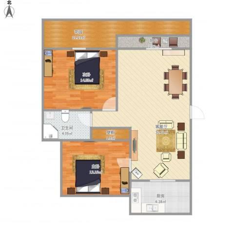 歌林春天馨园-222-892室1厅1卫1厨111.00㎡户型图