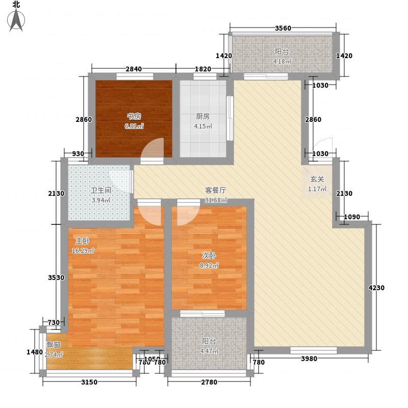 康桥溪桂园116.81㎡A\B户型3室2厅
