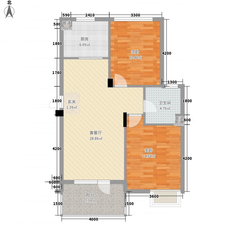 思明农行宿舍2-2-1-1-4户型2室2厅1卫1厨