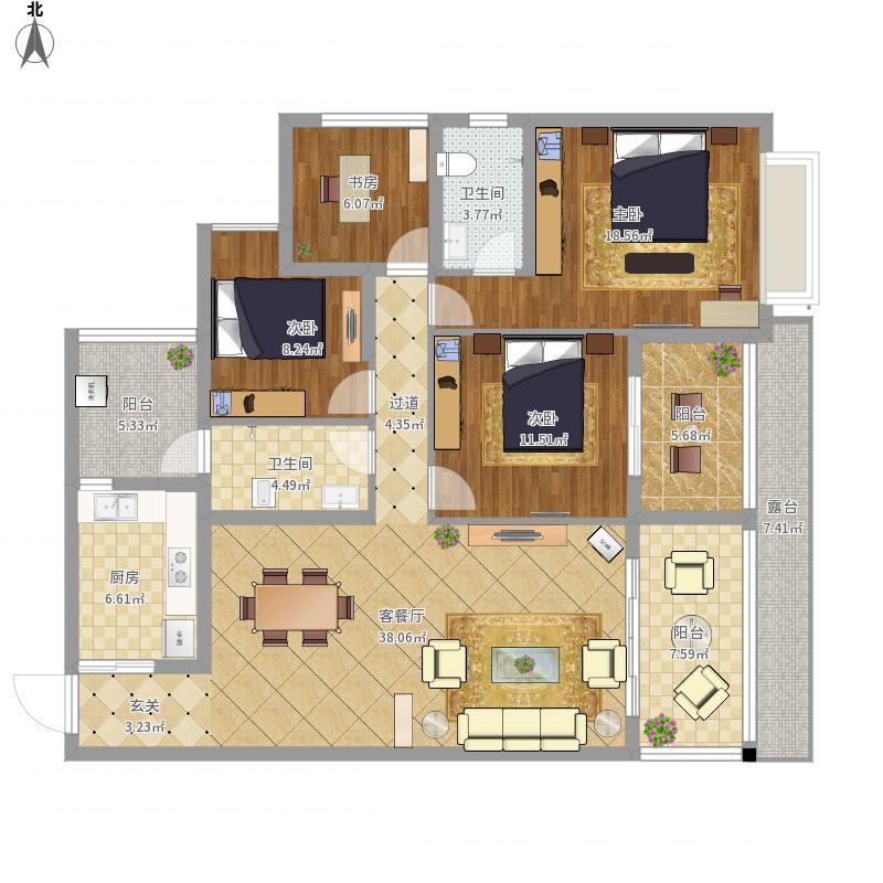 奥园神农养生城四室两厅1