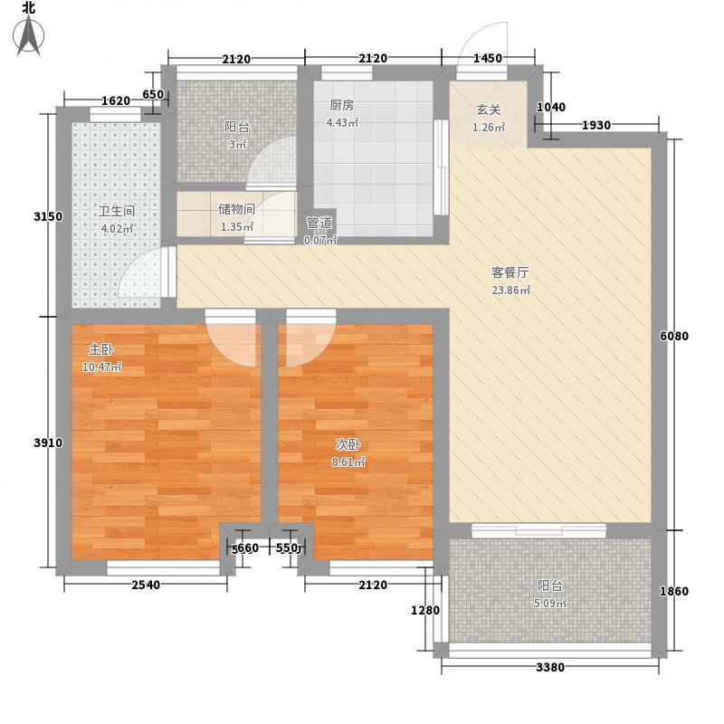 康桥溪桂园户型2室