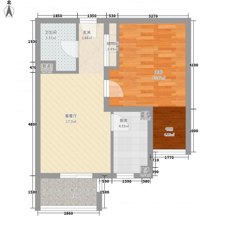 中祥小区2居户型2室1厅1卫1厨