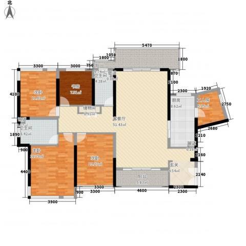 博海豪园4室1厅2卫1厨202.00㎡户型图