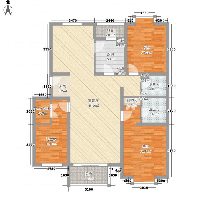 怡园小区1-1户型4室2厅1卫1厨