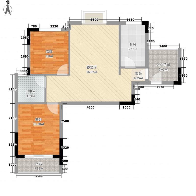 曦华佳苑2.14㎡2号楼A1户型3室2厅1卫1厨