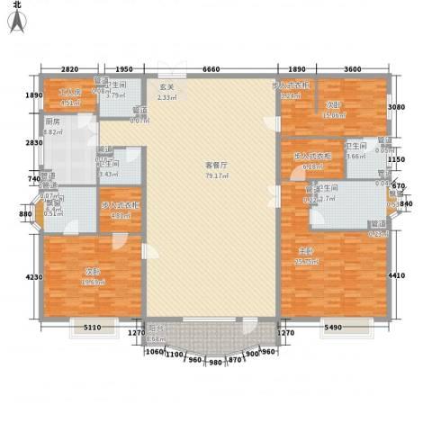 大连明珠3室1厅5卫1厨275.00㎡户型图