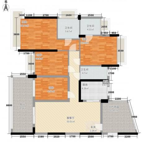 雅居乐・花锦集4室1厅3卫1厨189.00㎡户型图