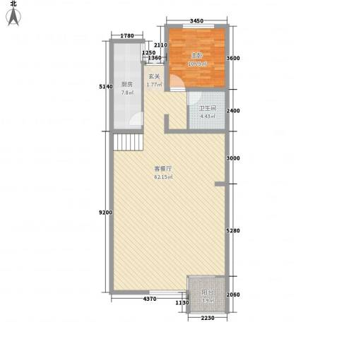 教育出版社家属楼1室1厅1卫1厨123.00㎡户型图