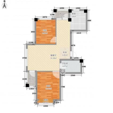 翰林苑2室1厅1卫0厨85.00㎡户型图