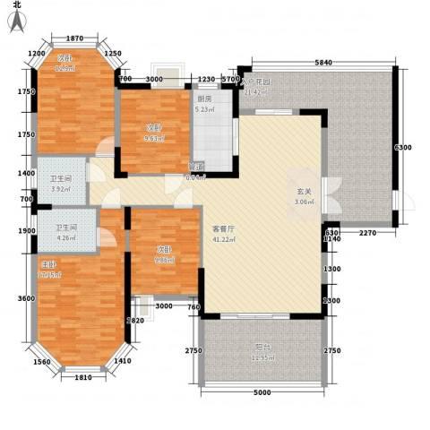 光耀荷兰堡4室1厅2卫1厨168.00㎡户型图