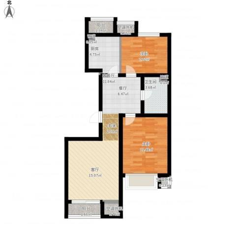 金第梦想山2室1厅1卫1厨82.00㎡户型图