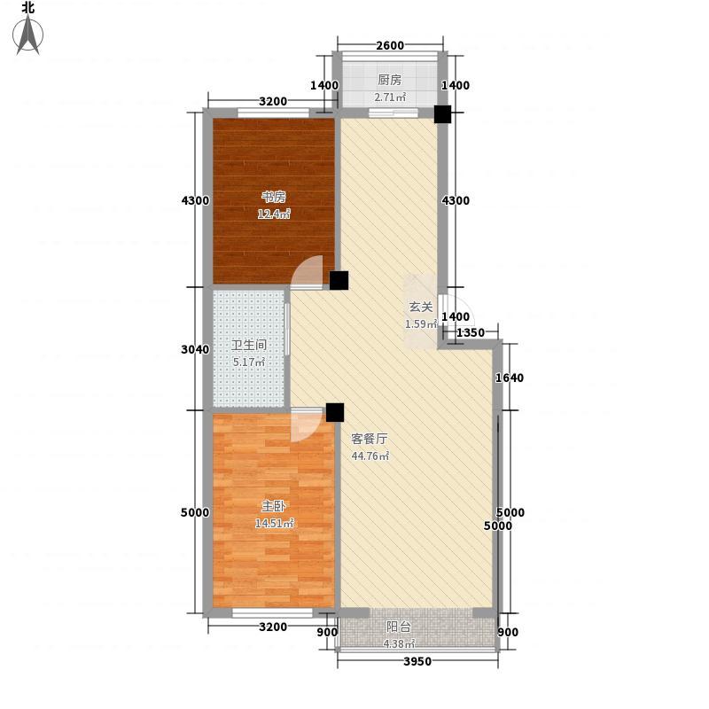 丰和日丽11.38㎡三期户型2室2厅1卫
