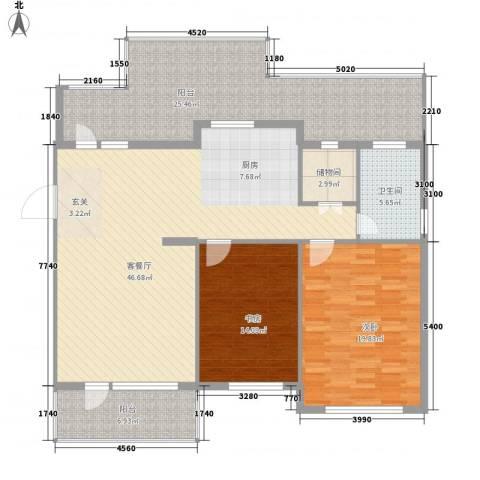 翡翠新村2室1厅1卫0厨166.00㎡户型图