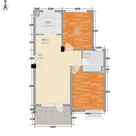 明发宿舍楼2室1厅1卫0厨103.00㎡户型图
