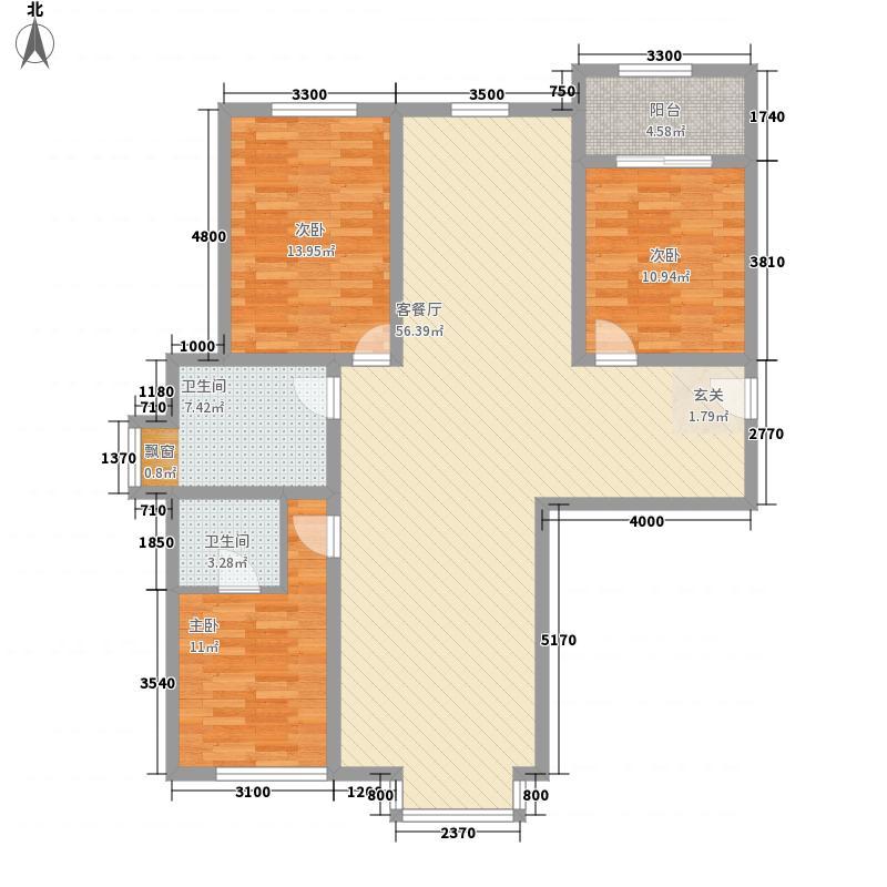 昌盛小区花2户型3室