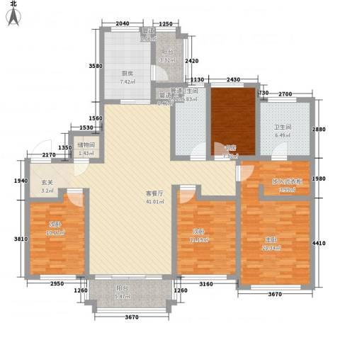 金域蓝湾4室1厅2卫1厨175.00㎡户型图