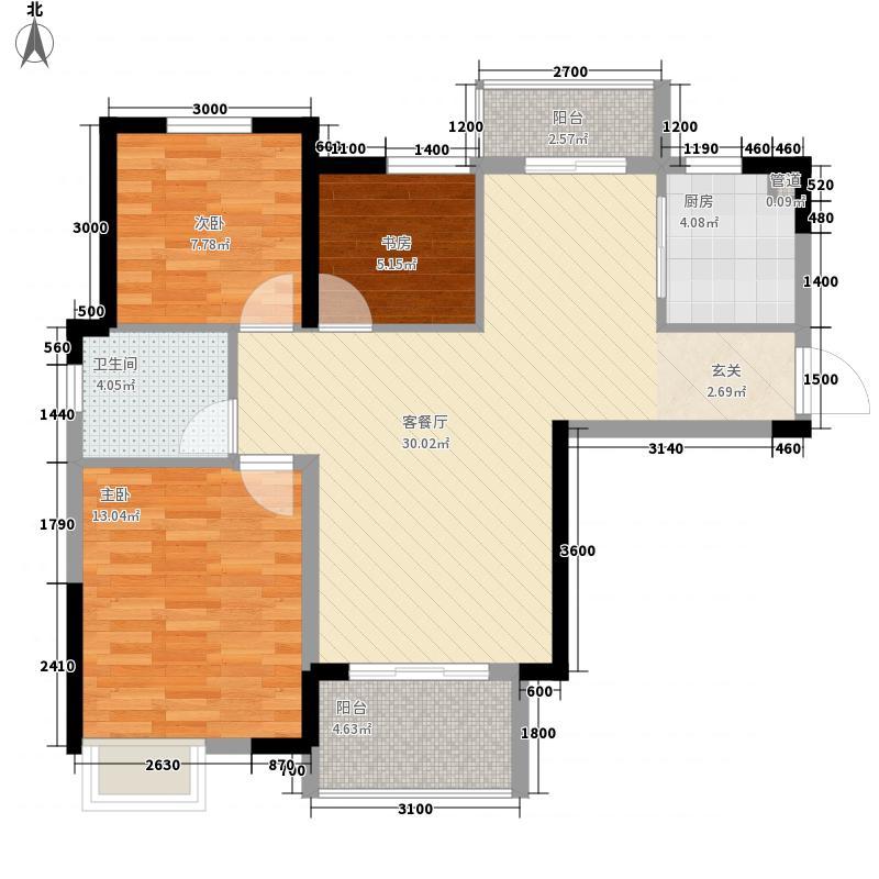 津发13.00㎡小区户型4室