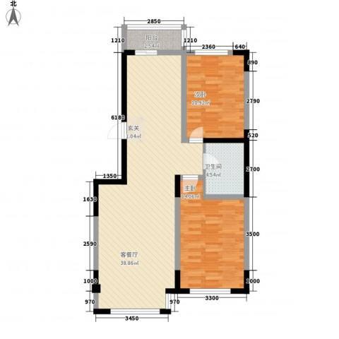万盛中央一品2室1厅1卫0厨70.92㎡户型图
