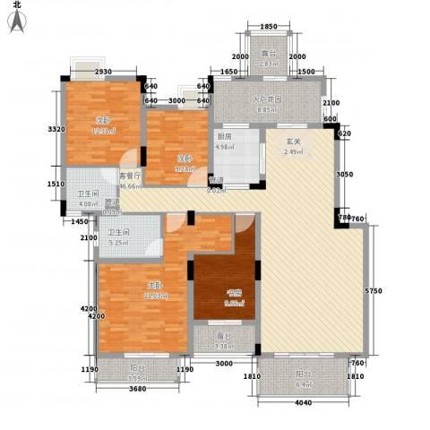 山水一舍(中铁)4室1厅2卫1厨198.00㎡户型图