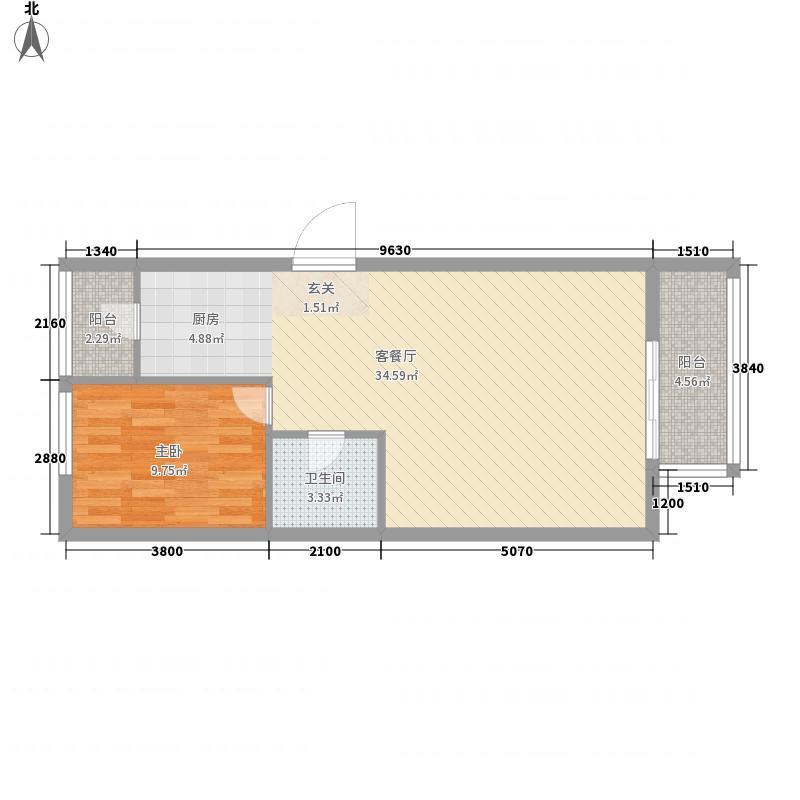 盛世财富公馆76.28㎡A4户型
