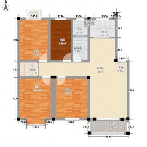 闽泰城市花园4室2厅1卫1厨138.00㎡户型图