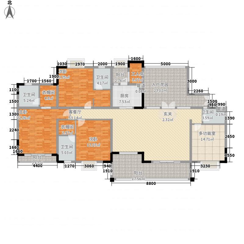 龙盘18.00㎡小区户型4室