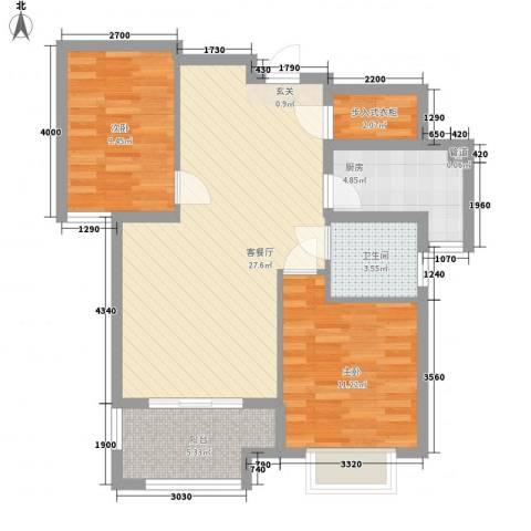 渔港宿舍2室1厅1卫1厨92.00㎡户型图