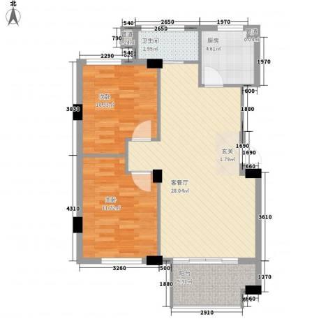 嘉隆公寓2室1厅1卫1厨89.00㎡户型图