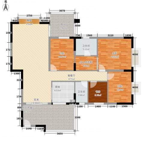 金田苑4室1厅2卫1厨175.00㎡户型图