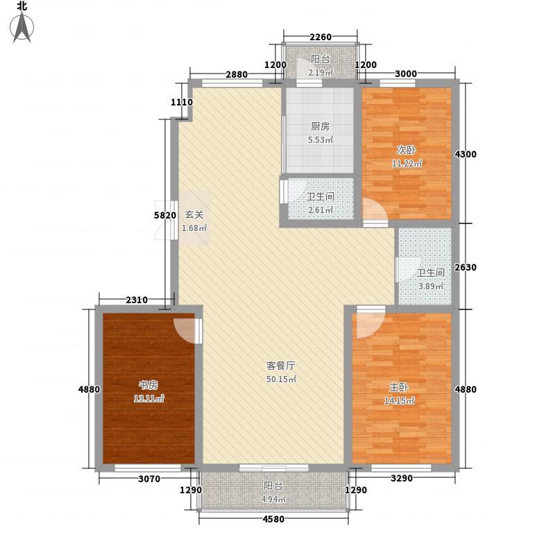 中新花园154.00㎡三期户型3室2厅2卫